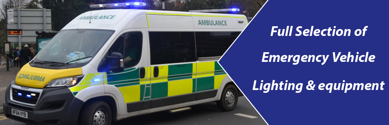 Full selection of emergency vehicle lighting & equipment