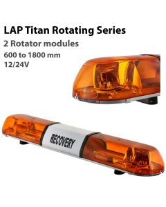 LAP Titan Rotating Lightbar LBR Series - 2 Modules - R65 - 12/24V