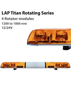 LAP Titan Rotating Lightbar LBR Series - 4 Modules - R65 - 12/24V