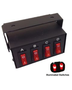 RVL 4 Way Illuminated Switch Box - 12/24v