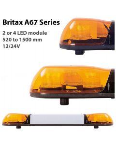 ECCO Britax LED Light Bar - A67 Series - Amber Lens - 12/24V