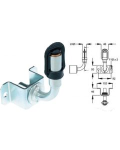 DIN / Hella Pole Mount for Beacons (Product code 13109.25)