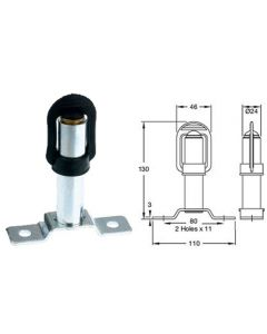 DIN / Hella Pole Mount for Beacons (Product code 13109.40)
