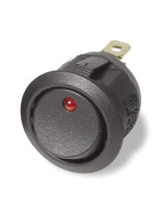 Illuminated Round Rocker Switch (Red, Yellow, Green, Blue) 12v