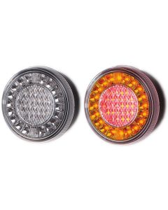 LAP - 26004N-1 Round LED Rear Function Lamp - Stop, Tail, Indicator - 12/24v