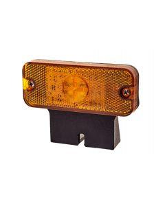 RVL - LED Marker Lamp with Bracket - M01.DV.BK.A - 12/24v - Amber