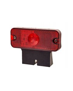 RVL - LED Marker Lamp with Bracket - M01.DV.BK.R - 12/24v - Red