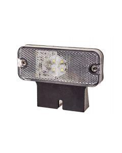 RVL - LED Marker Lamp with Bracket - M01.DV.BK.W - 12/24v - White