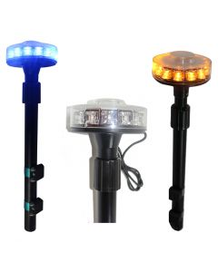 RVL - Telescopic Motorcycle/Motorbike Pancake LED Beacon - Ultra Optics 3 Watt LEDs - 12V