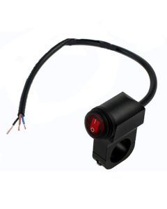 RVL - Motorcycle/Motorbike Handlebar Waterproof Illuminated Red Rocker Switch - 12v