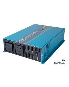 Ring - RINVP2024 - Pure Sine Wave Inverter - 2 Sockets - 2000w - 24v