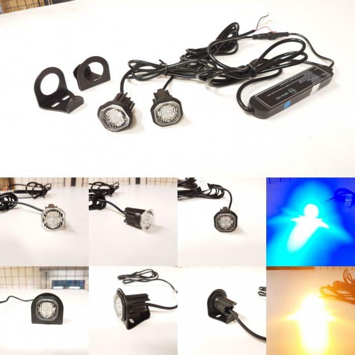 12v 24v Flashing LED HIDE AWAY LIGHTS Light Bar Recovery Strobe Beacon RED